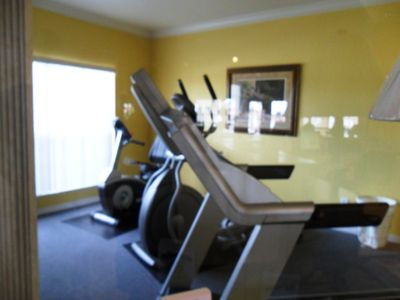 Exercise room at the Clubhouse.