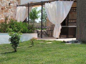 trullo terrasse withnlounge and bbq