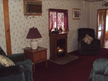 Another View of Living Room & Gas Fireplace