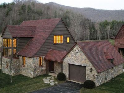 The Laurel Cottage-a stone, timber and plaster cottage w/Ludowici clay tile roof