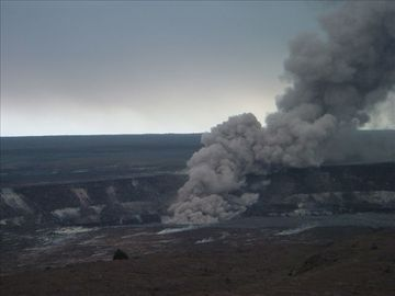 Kilauea Volcano at Volcano National Park 40 min away