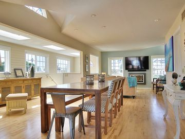 Ventura house rental - Enjoy seating for 10 at the large dining table custom-made by a local craftsman.