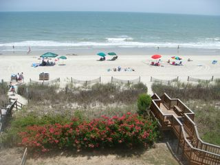 Surfside Beach condo photo - View from your balcony. Watch your family play on the beach!