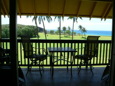 Kaluakoi condo rental - Comfortable balcony furniture to enjoy your overall view