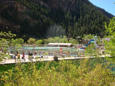 Walk to Ouray Hot Springs Pool year round