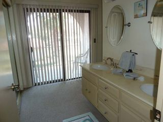 Palm Springs condo photo - Double sinks in the master bathroom and balcony facing mountains