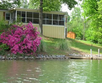 Moneta cottage rental - View from the water.