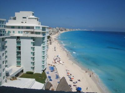 Cancun condo rental - Your view from your condo! Sit on your huge balcony with a beverage & relax!