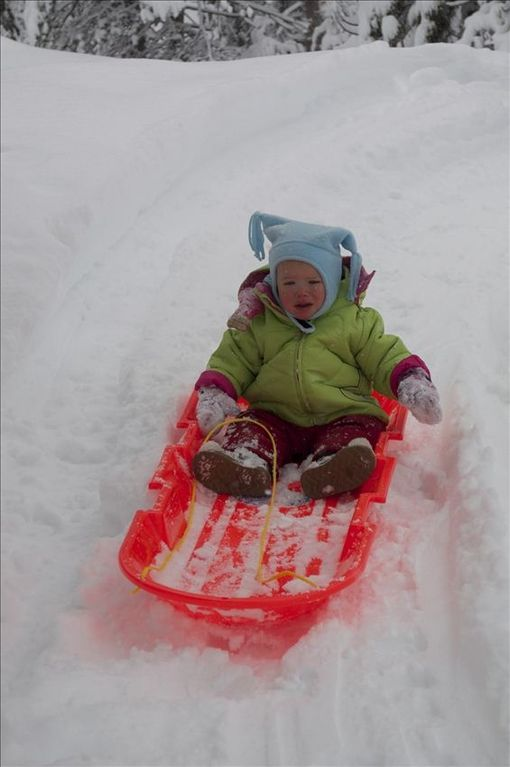 Many nearby sledding options for little and big kids.