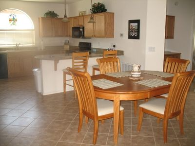 Spacious Dining adjacent to Fully-Equipped Kitchen