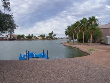 Casa Grande house rental - back yard & paddle boat