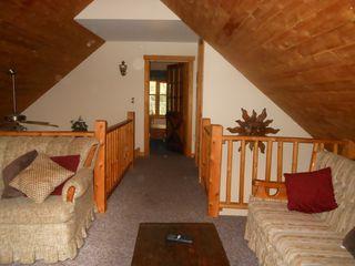Jay Peak cabin photo - Open loft to master bedroom! Bright and spacious!