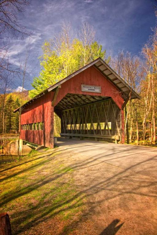 One of the covered bridges in Stowe