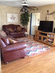 Cozy Family Room with new floors