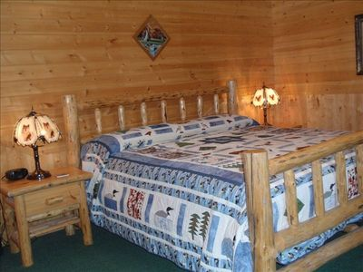 River Room: Master Bedroom--Whispering Pines
