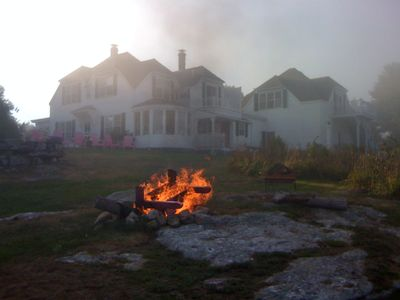 Westport Island cottage rental - Enjoy a bonfire in the Firepit in the evenings