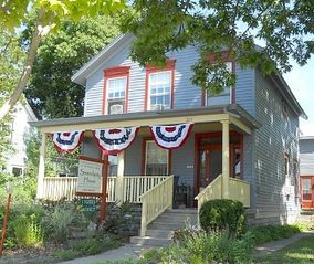 Frankfort lodge photo - Serendipity House all dressed up for the July 4th parade.