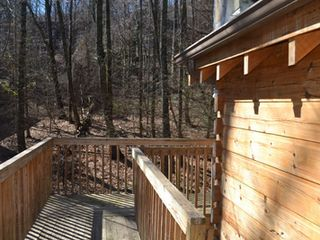 Gatlinburg chalet photo - Continuing the view off the deck. This is towards the driveway.