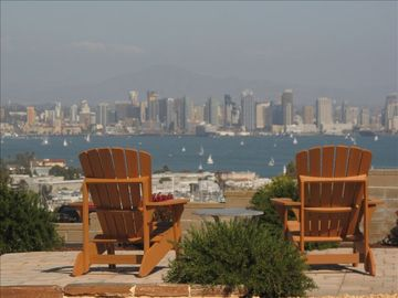 Point Loma house rental - The view from the front patio.
