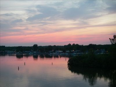 Enjoy spectacular sunsets right from the deck! - Actual view from deck!