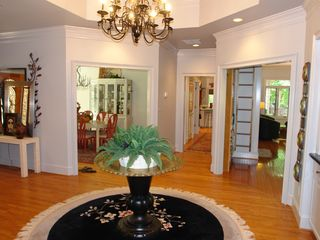 Big Canoe house photo - Grand foyer with views into dining room, kitchen and great room.