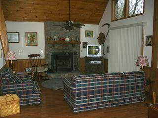 Bryson City chalet photo - Here's a partial view of the great room. Great, huh?