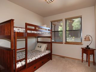 Show Low cabin photo - Bedroom 3 - Bunk bed with trundle