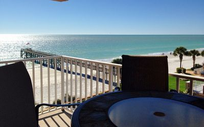 Enjoy the private balcony on top (4th) floor for sunset & beach views!