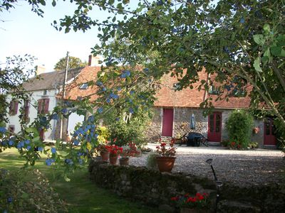 Three farm gites with large pool, in a quiet rural location