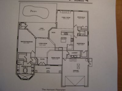Rotonda West villa rental - home layout showing master on left and other bedroom on the right