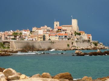View of the Old Town of Antibes