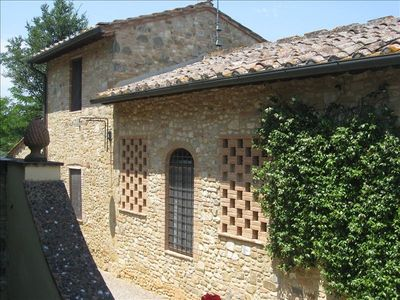 Barberino Val d'Elsa farmhouse rental - really Tuscany, stone building.....the old barn
