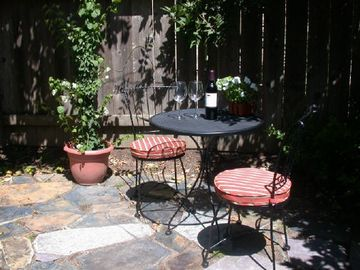 Intimate setting * other patio tables seat 8.BBQ