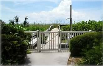 Siesta Key condo rental - Boardwalk to Island Reef's Private Beach