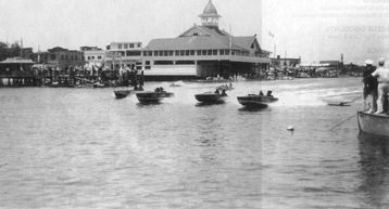 Newport Pavilion 1950's still great for boat rentals, harbor tours, whale watch