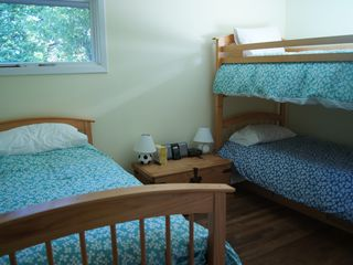 Watch Hill cottage photo - Second bedroom with bunk bed and trundle bed