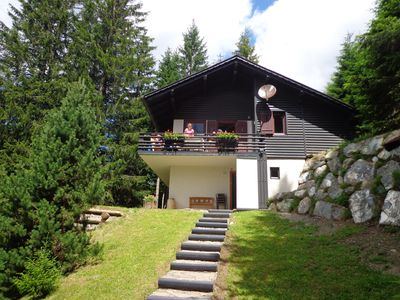 Chalet  with a garden