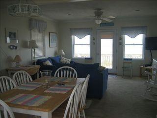 Surf City cottage photo - Living Dining Area in Main Cottage