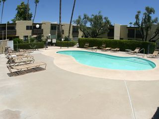 Old Town Scottsdale townhome photo - Heated pool just steps from patio