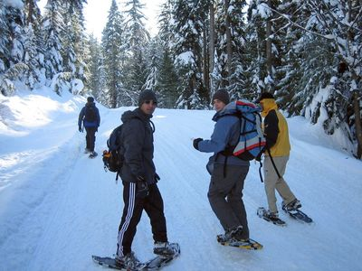 Great snow shoe and cross country trails close to the cabin.