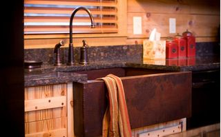 Stanardsville cabin photo - Copper farm house sink.