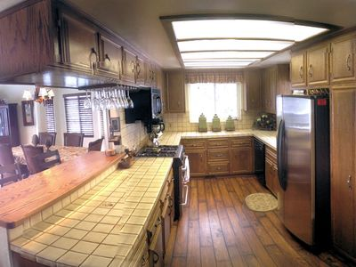 Spacious kitchen with buffet bar