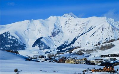 View of Crested Butte Mountain Resort from downtown CB