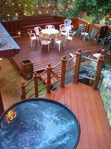 Wine Barrel Hot Tub and Deck