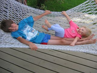 Belmont farmhouse photo - Our kids enjoying the hammock.