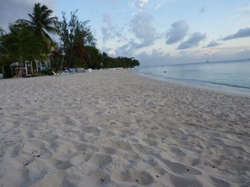 Paynes Bay. The beach we are located on