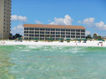 View of Windancer Condos from the gulf.