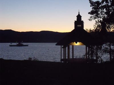 Evening view of the gazebo