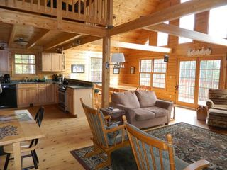 Carrabassett Valley house photo - Picture shows kitchen and dining area.