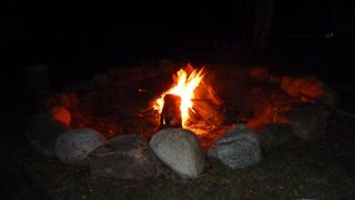 Nothing Like An Evening Fire And Telling Stories - Walloon Lake cottage vacation rental photo